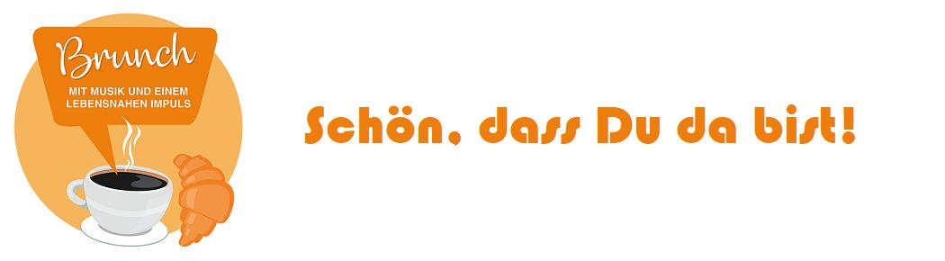 Brunch Gottesdienst-Logo: Schön, dass Du da bist!