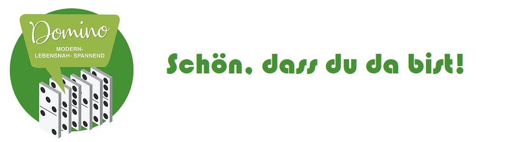 Domino Gottesdienst-Logo: Schön dass Du dabist!